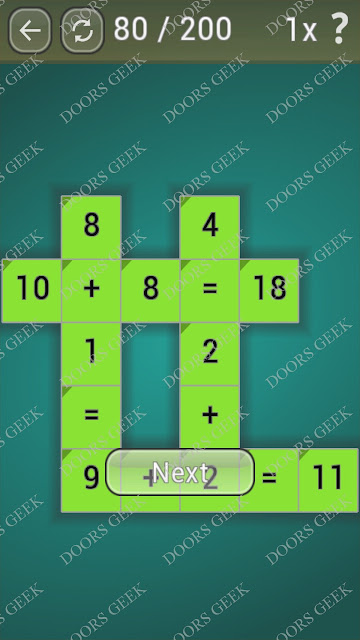 Math Games [Beginner] Level 80 answers, cheats, solution, walkthrough for android