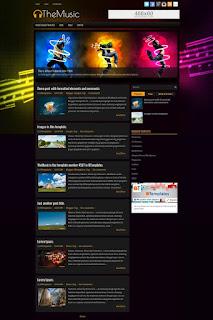 TheMusic blogger template