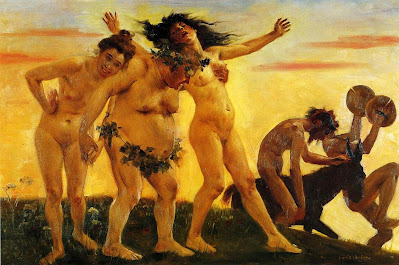 Lovis Corinth, Baccants Returning Home (1898)