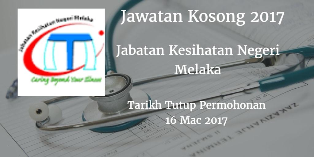 Jawatan Kosong JKN Melaka16 Mac 2017