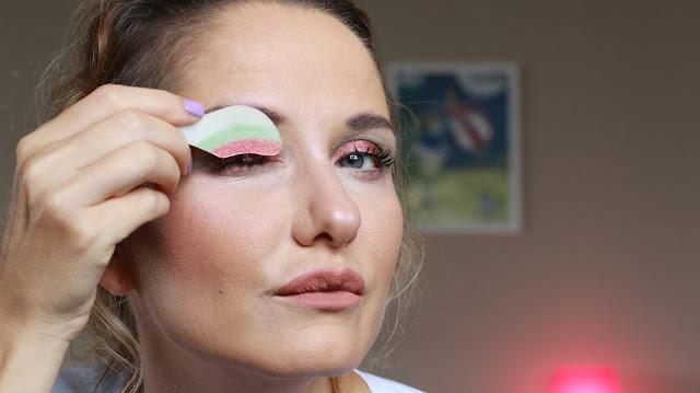 instant eyeshadow, peel of eyeshadow, youtube videoları, çıkartma göz farları