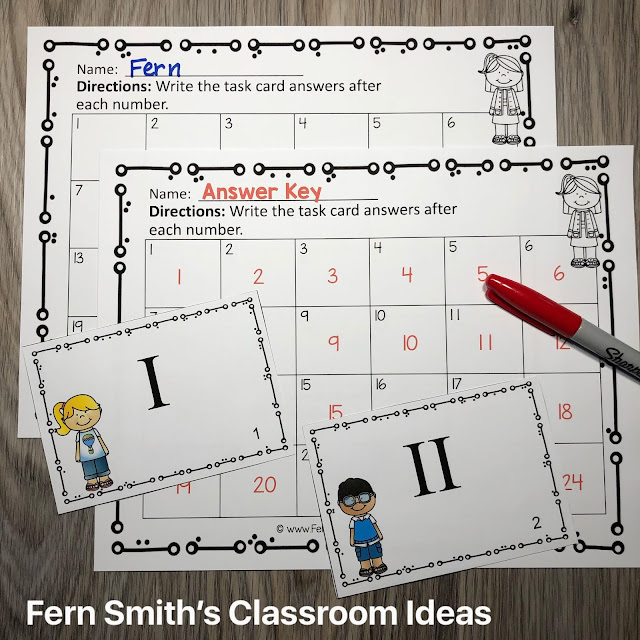 Roman Numeral Task Cards