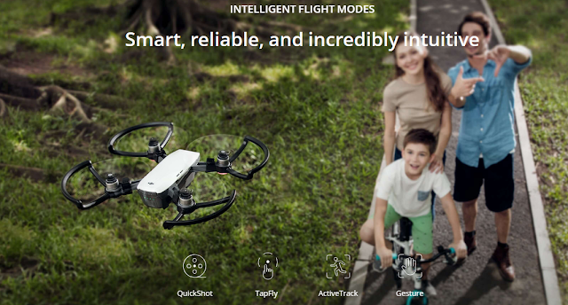 Intelligent Flight Modes pada DJI Spark digitografi