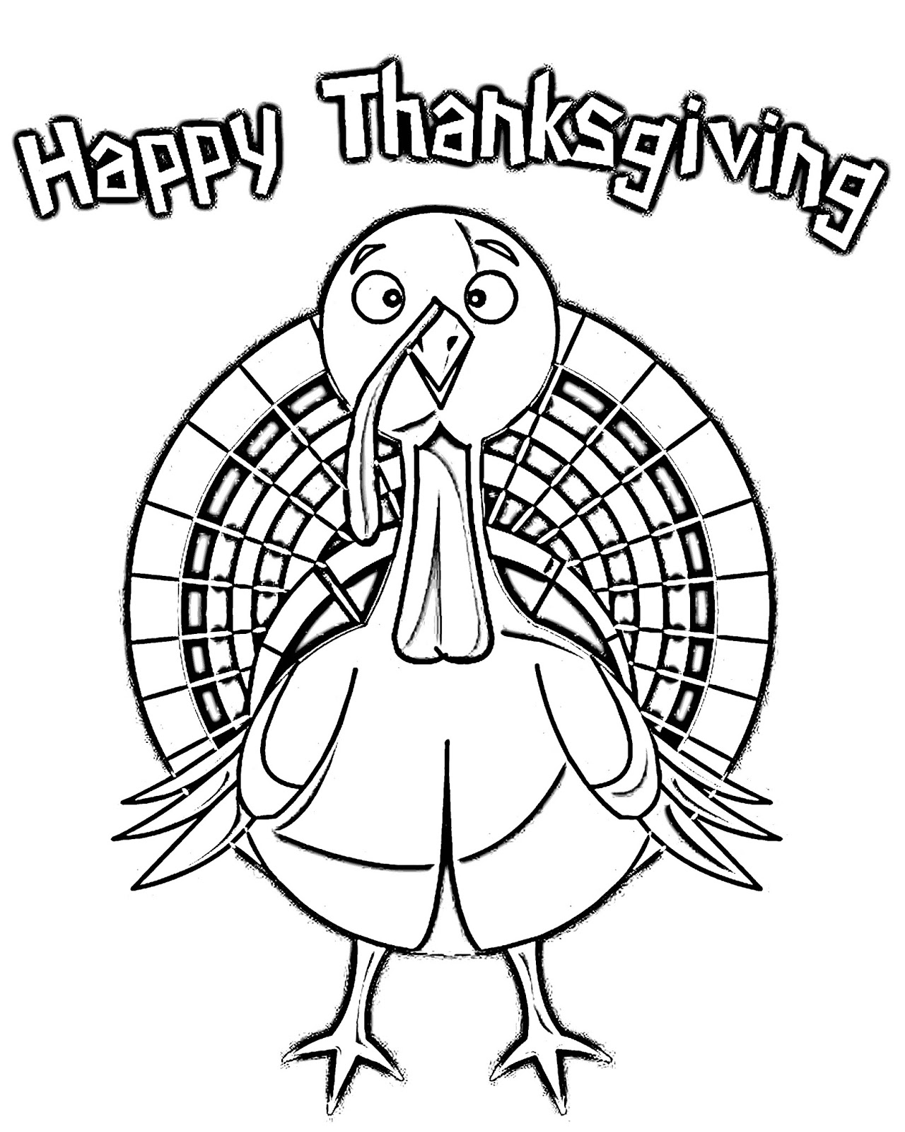 Cjo Photo Thanksgiving Coloring Page Happy Thanksgiving Turkey