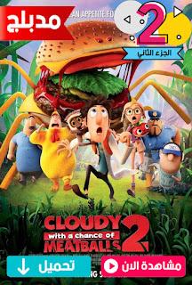 مشاهدة وتحميل  فيلم يوم غائم مع فرصة الحصول علي كرات اللحم الجزء الثاني 2 Cloudy with a Chance of Meatballs 2 2013 مدبلج عربي