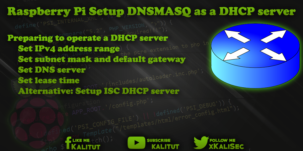 Setup DNSMASQ as a DHCP server - KaliTut