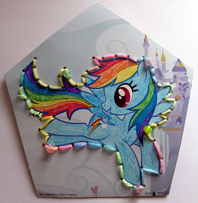 Rainbow Dash from the Rainbow Cards pack