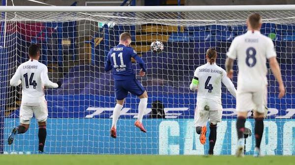 Timo Werner mencetak gol pertama chelsea melalui sundulan