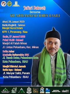 Tabligh Akbar bersama KH. MUHAMMAD IDRUS RAMLI