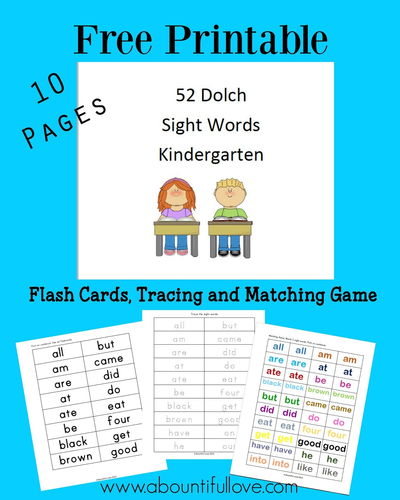 Dashing image in printable kindergarten sight words