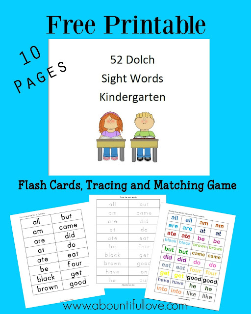 https://www.teacherspayteachers.com/Product/52-Dolch-Sight-Words-For-Kindergarten-3226233