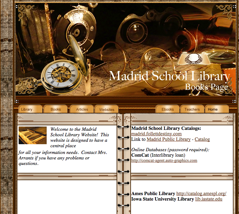 Madrid School Library News: Madrid School Library Website