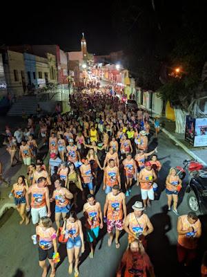 Bloco Carcará do 7º BPM abre festa de carnaval em Santana do Ipanema