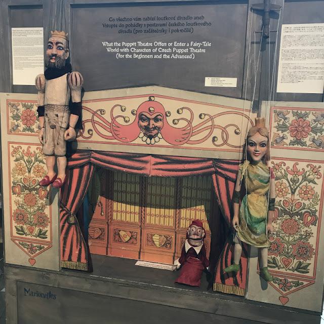 ミュシャ展の入り口付近に展示されていたトルコ人形劇史の写真です。