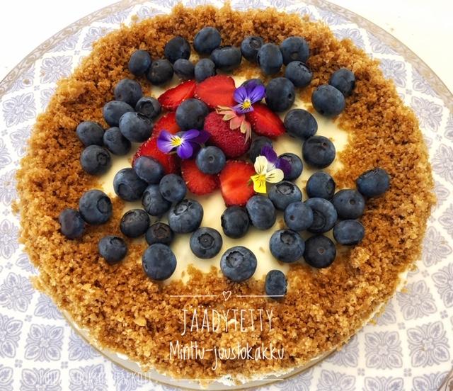 #juustokakku #jäädyke #minttu #mint #cheesecake #baking #delicious #dessert #beautifulcake #cakedecor #cake #leivonta #kakkuresepti #pullantuoksuinenkoti