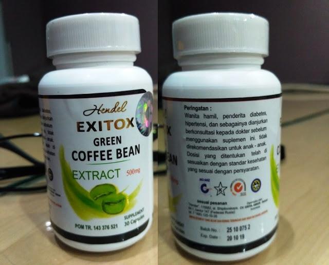 Obat Pelangsing Exitox Green Coffee