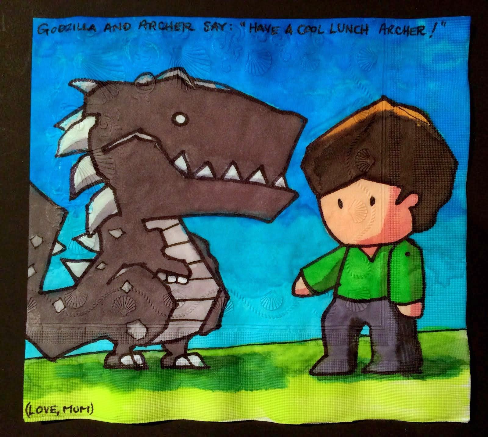 Daily Napkins: Scribblenauts Unlimited Godzilla and Personal