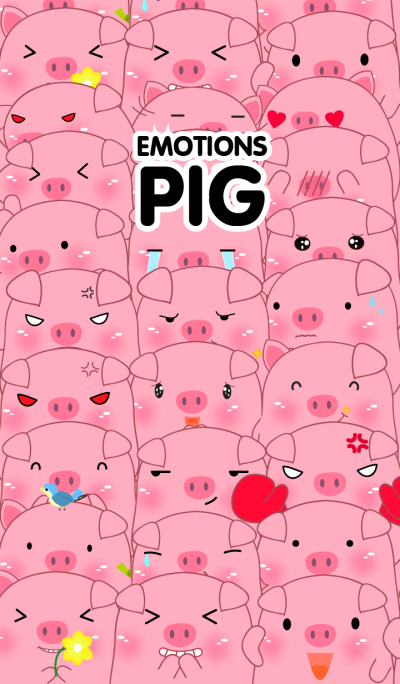 Simple Emotions Pink Pig Theme V.2(jp)