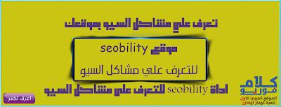 اعرف مشاكل السيو من خلال موقع seobility