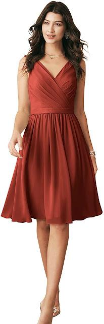 Glamorous Short Chiffon Bridesmaid Dresses
