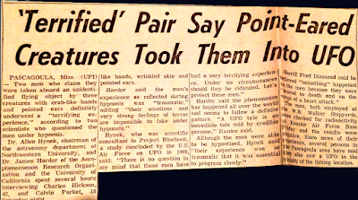 Terrifying UFO – 'Crab-Clawed' Alien Seize Pair - The Register 10-15-1973