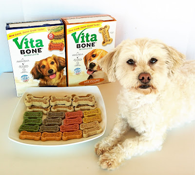Vita Bone dog biscuits come in 3 sizes and 6 delicious flavors!