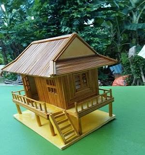 Nhà tăm tre - Nhà Sàn-Quà tặng Handmade độc đáo