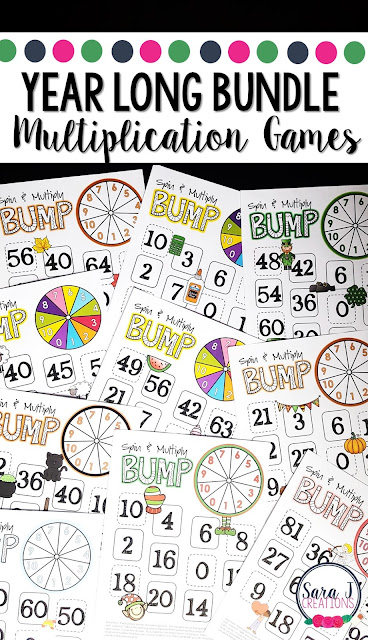 Year long multiplication games for learning fun!
