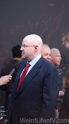 Matt Lucas being interviewed on the red carpet
