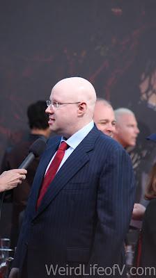 Matt Lucas being interviewed on the red carpet