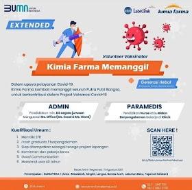 Lowongan Kerja BUMN Agustus 2021 di PT Kimia Farma Tbk