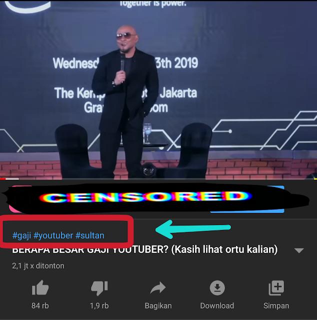 Membuat tag youtube di android
