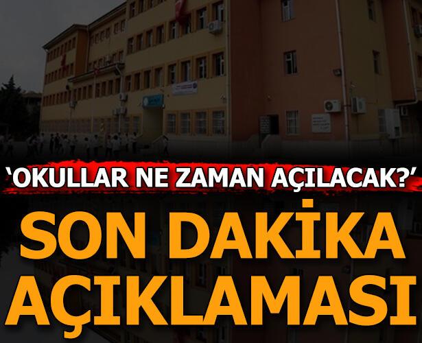 Bakan Açıkladı: Okullar Ne Zaman Açılacak, LGS'nin Tarihi ...