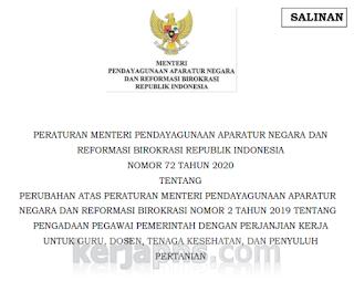 Permenpan RB no 72 tahun 2020; Golongan Gaji PPPK