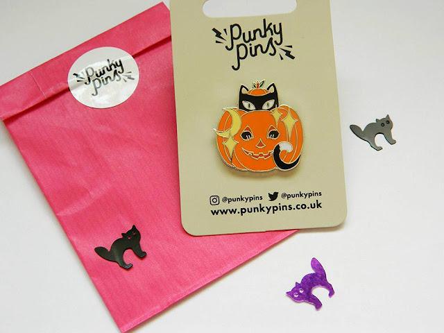 Punky Pins Halloween Cat Pin