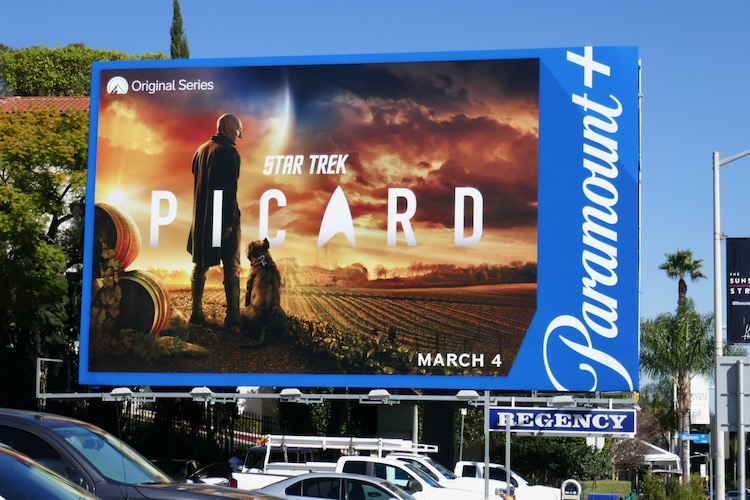 Star Trek Picard Paramount plus billboard