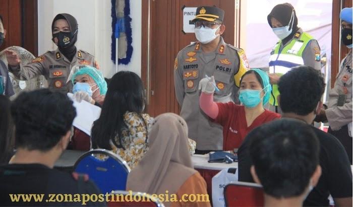 Polrestabes Surabaya Mulai Vaksin Covid-19 untuk Usia 12-17 Tahun