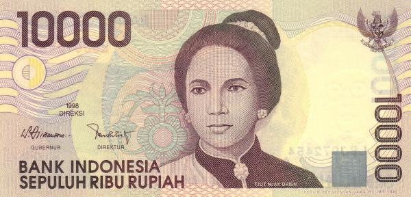 10 ribu rupiah 1998 depan
