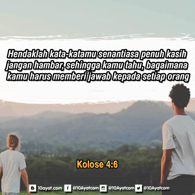 Kolose 4:6