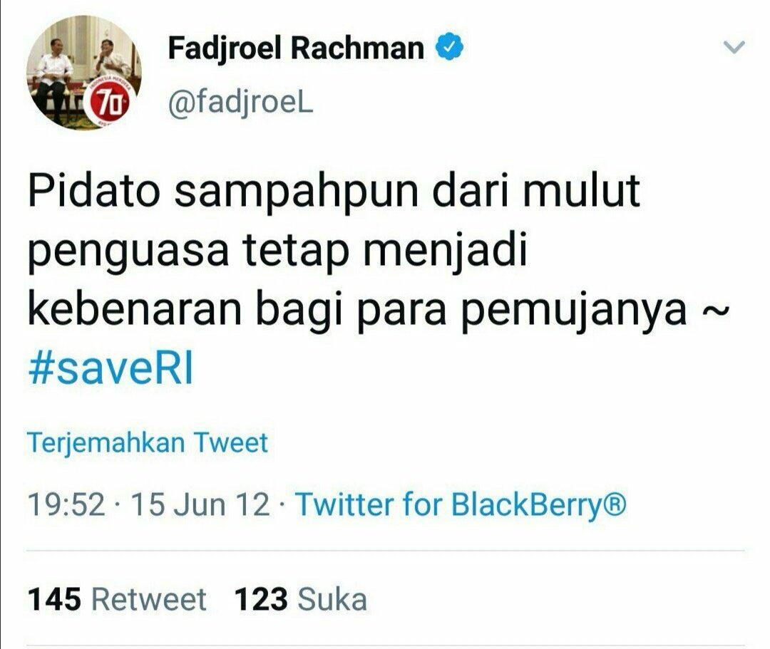 Fadjroel: DNA Jokowi Memang Blusukan