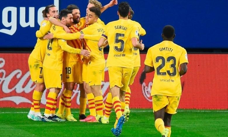 ملخص وأهداف أوساسونا ضد برشلونة