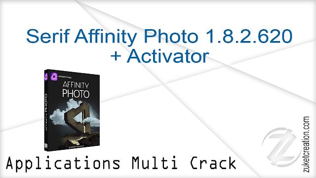 Serif Affinity Photo 1.8.2.620 + Activator