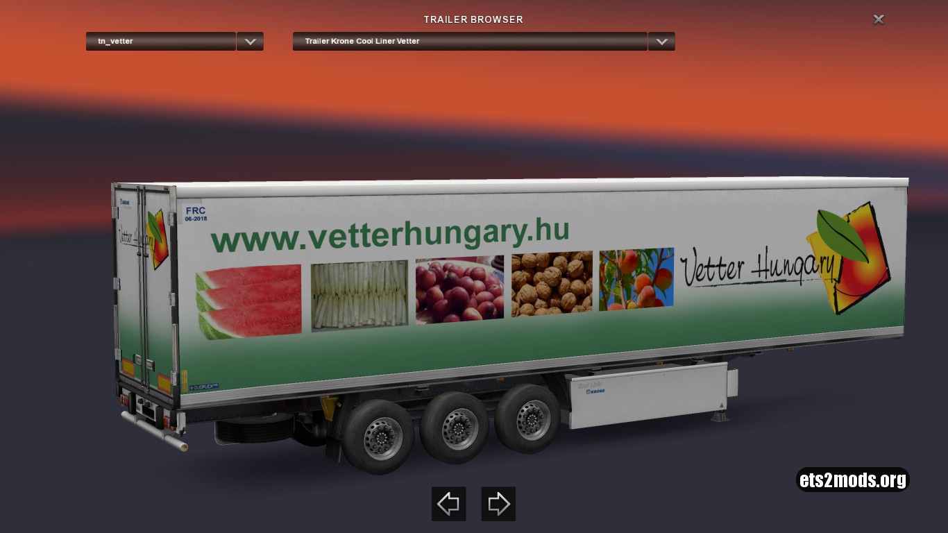 Krone Vetter Hungary Trailer
