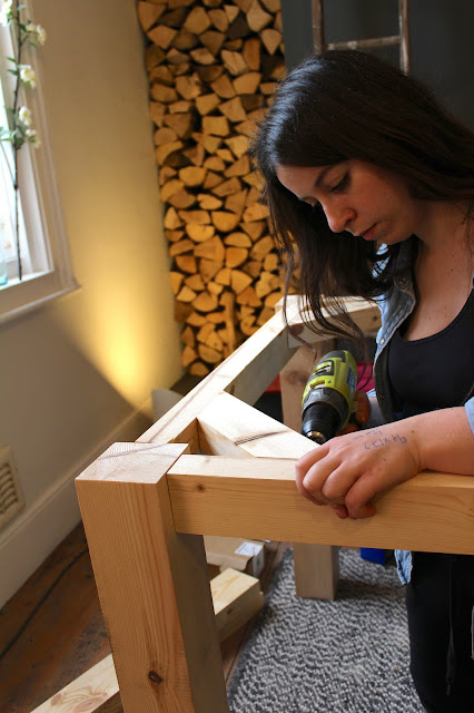Girl Making a Table
