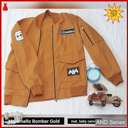 AND224 Jaket Wanita Marsmeloo Bomber Gold BMGShop
