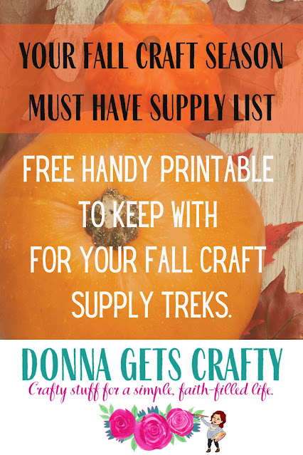 free printable fall supply list
