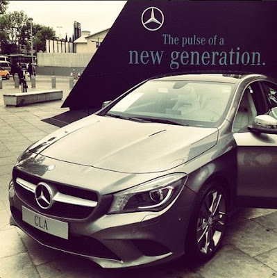 Mercedes CLA from Istanbul for #PinItForwardUK