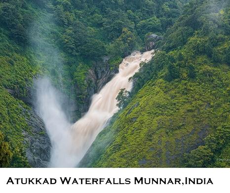 Munnar Attractions : Atukkad Waterfalls Munnar