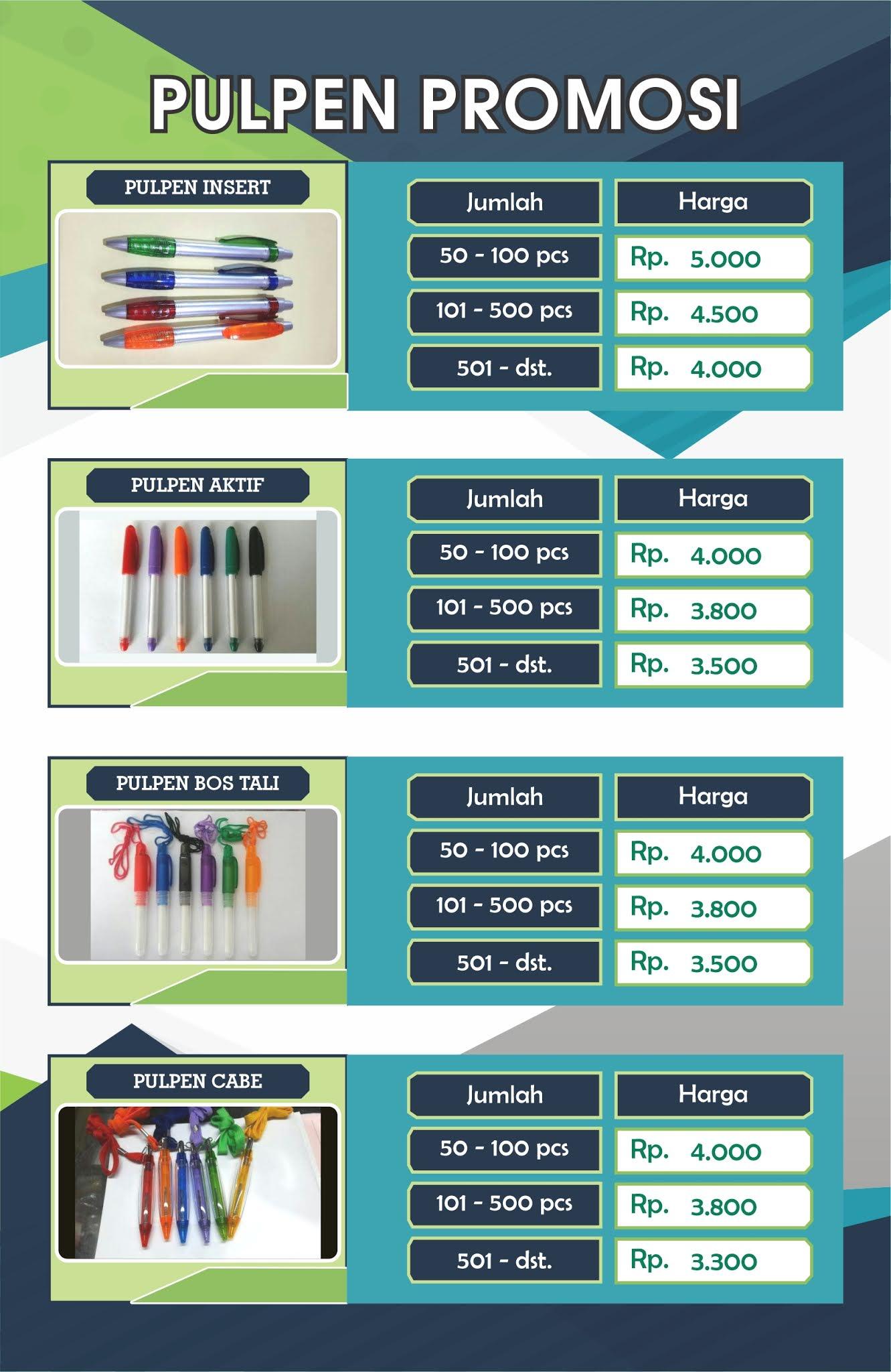 pesan pulpen promosi, pulpen insert paper, bikin pulpen murah