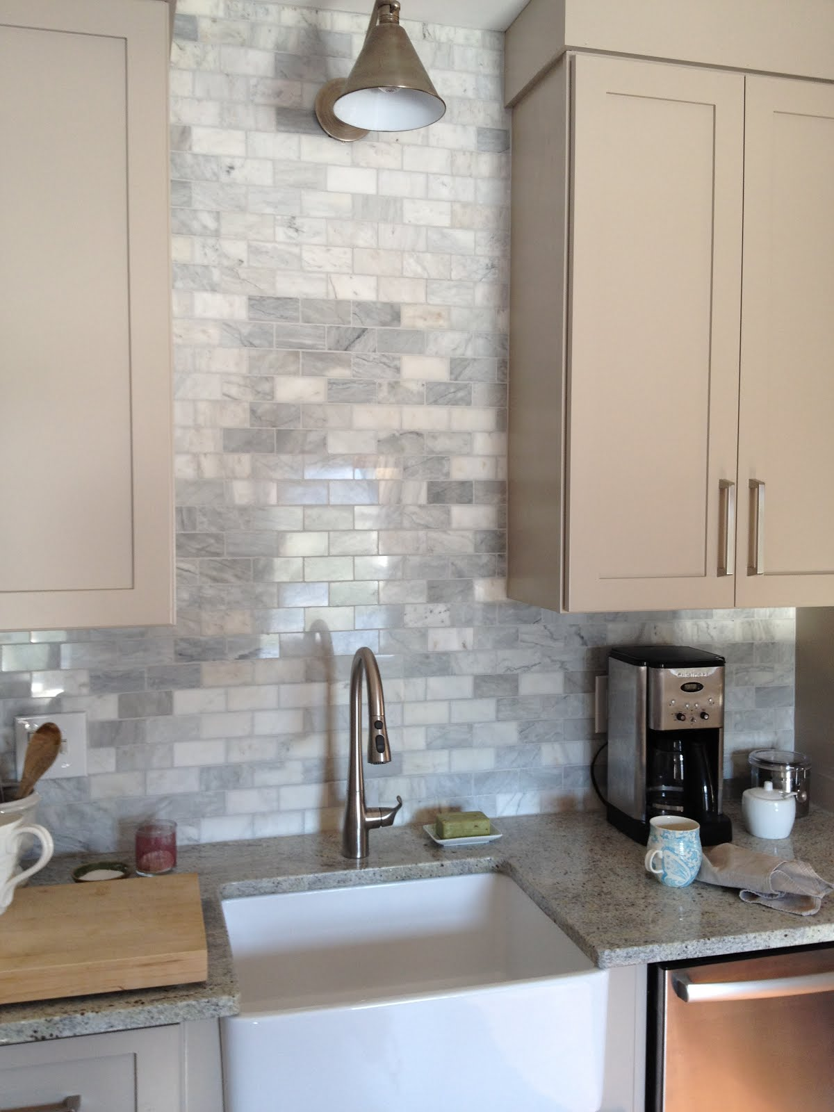 Loft & Cottage: The Marble Backsplash